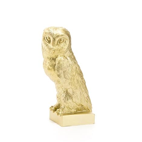 Prägung Ottmar Hörl Olympiade Athen 2004 Eule Owl Kunststoff Skulptur schwarz